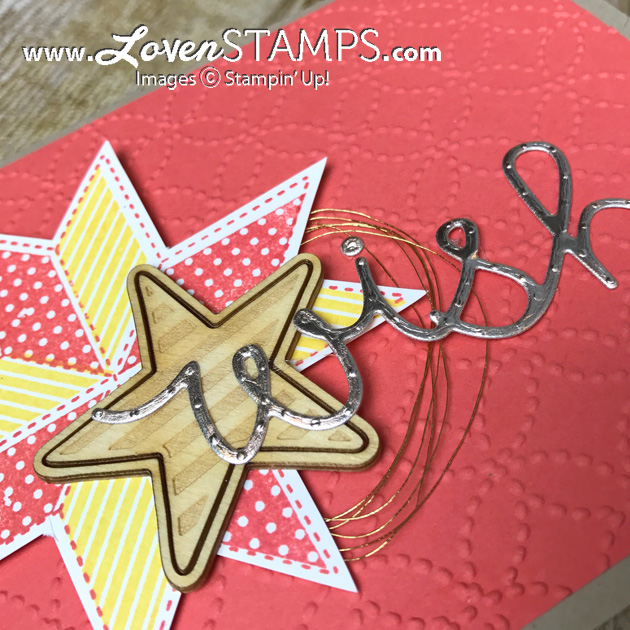 "LovenStamps: Christmas Quilt with ""wish"" from Cupcake Cutout Thinlits Dies, create cards not just for Christmas"