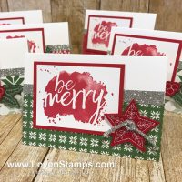 LovenStamps: Every Good Wish stamp set with the Quilted Christmas Stitched Felt Embellishments from the Stampin Up Holiday Catalog