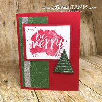LovenStamps: Every Good Wish for simple stamped DIY Christmas Cards at home, featuring Stitched Felt Embellishments