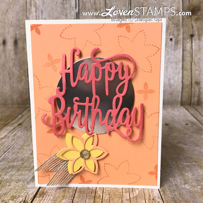 LovenStamps: Happy Birthday Thinlits with the Quilt Builder Framelits for fun fall birthdays