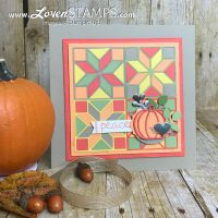 Perfect Autumn Colors: Fall Quilt Builder Framelits Sampler Art