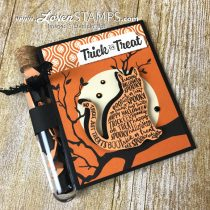 Simple Stamping Treat Tubes: Spooky Cat on a Spooky Night