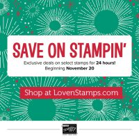 ONE DAY ONLY – 20% off Selected Stamp Sets in the Online Extravaganza