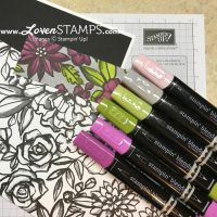 Petal Passion and Stampin Blends Markers: A Simple How-To Tutorial