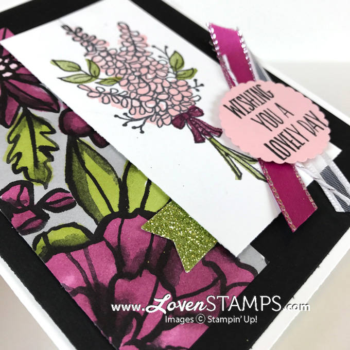 lots of lavender stampin blends card idea