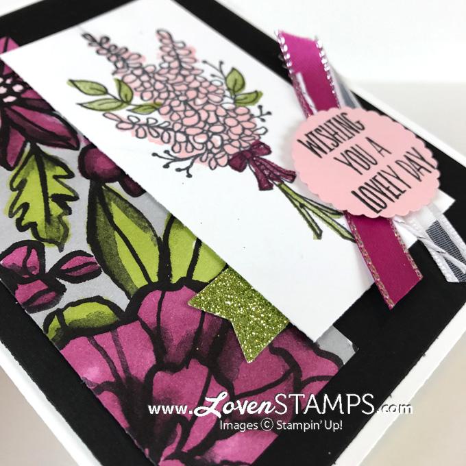 lots of lavender stampin blends card idea