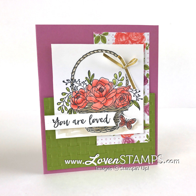 Stampin Blends with Basket Weave Folder Blossoming Basket Bundle