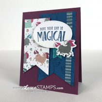 Glittery Magical Unicorns: Layered Banners with Myths & Magic Designer Series Paper