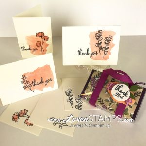 LovenStamps: Acetate Card Box Tutorial - make your own purse card holder for Note Cards & Envelopes
