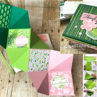 Squash Albums Made Simple: Tropical Chic Folding Card Tutorial