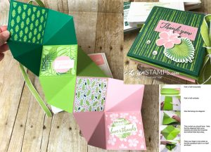 LovenStamps: How to Make the Tropical Chic Squash Album Folding Card - fancy fold video tutorial for Stamps in the Mail Club with Meg