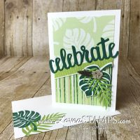 Crafting Hacks for 6×6″ Designer Series Paper: Tropical Escape Note Card