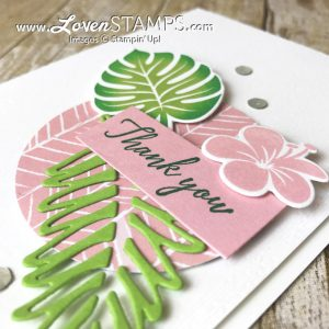 LovenStamps: Video tutorial on how to create a faux rock n roll technique for shaded stamped images like this leaf from Tropical Chich from Stampin Up
