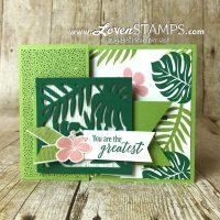 Crafting Hacks: 6×6″ Designer Series Paper – Tag Front Card Idea