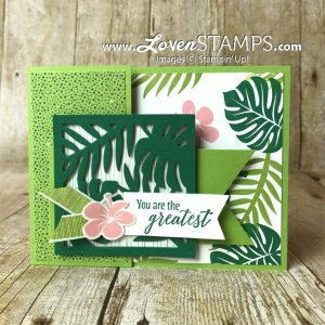 "LovenStamps: 6x6"" Paper Crafting Hack - how to make the most of your Tropical Escape Designer Paper - or ANY pretty paper from Stampin Up"