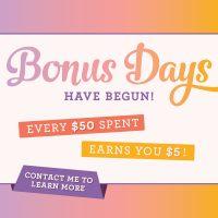 Stampin' Up! Bonus Days Are Here!