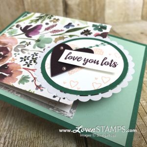 LovenStamps: why pick sides? Show off BOTH sides of the Frosted Floral Designer Series Paper with Takeout Treats kit from LovenStamps