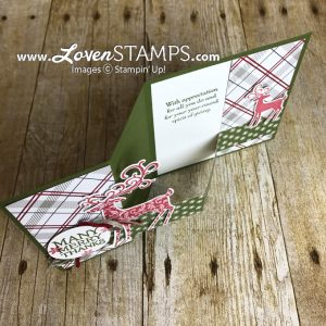 LovenStamps: Dashing Deer Double Z or Zig Zag card tutorial, for Stamps in the Mail Club with Meg, featuring Dashing Deer from Stampin Up Holiday Catalog
