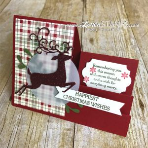 LovenStamps: Crafting Hacks - Stairstep Cards Made SImple, with Dashing Deer from Stampin Up for Stamps in the Mail Club with Meg