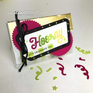 LovenStamps: Turn an acetate card box into a retro gift card holder - video tutorial for Stamps in the Mail Club with Meg