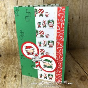 LovenStamps: Signs of Santa Notebook Gift Idea - for the crafter who has everything, make a pocket notebook gift with elves to help