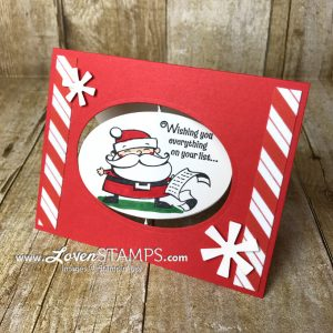 LovenStamps: Santa's Workshop Spinner Card idea - for Stamps in the Mail Club exclusively at LovenStamps