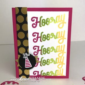 LovenStamps: How to Use Spectrum Ink Pads - including video tutorial on inking a Spectrum Pad, for Broadway Birthday stamp set from Stampin Up