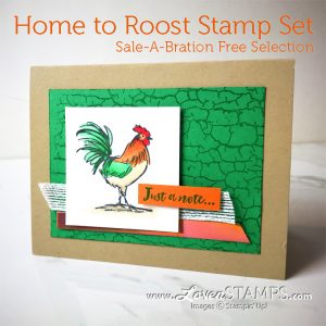 LovenStamps: Crackle Paint and the Home to Roost Sale-A-Bration stamp set, a Stampin Blends Markers feature