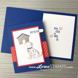 LovenStamps: Happy Tails and the Dog Punch - simple stamping for any occasion