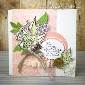 LovenStamps: Wonderful Romance DIY Floral Home Decor Frame with video tutorial for Stamps in the Mail Club with Meg