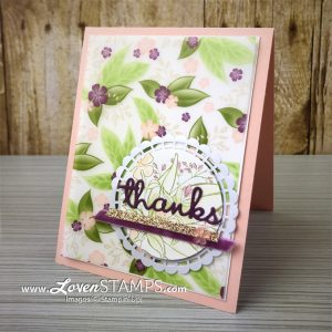 LovenStamps: How to Show Off the Specialty Vellum Sheets from the Floral Romace Suite