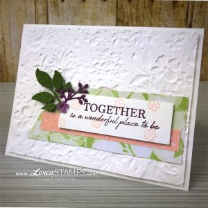 LovenStamps: Wonderful Floral Romance and the Country Floral Embossing Folder for Stamps in the Mail Club