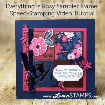 Speed Stamping Challenge: Everything is Rosy Sampler Frame