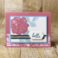 new stampin up catalog wild rose card idea with in colors