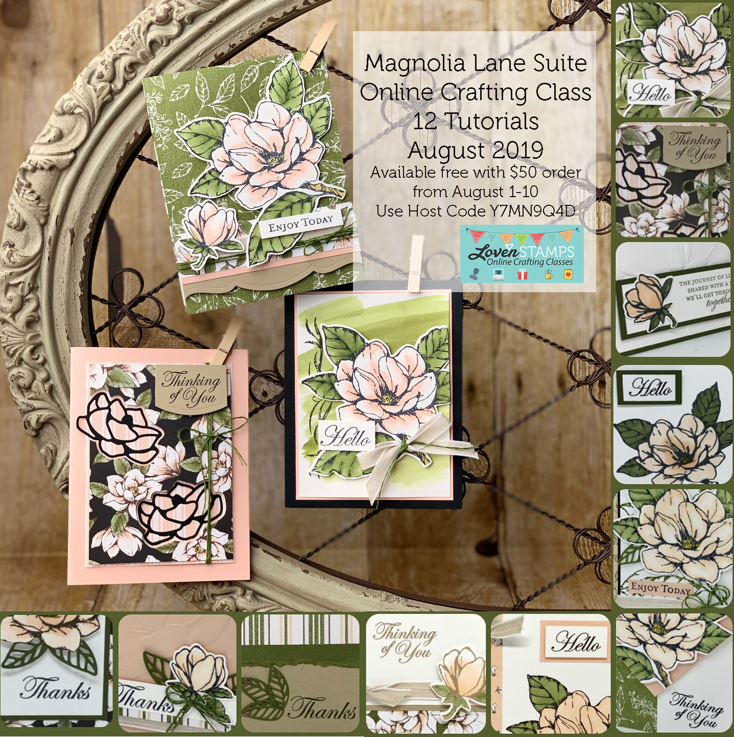 magnolia lane online crafting class from lovenstamps