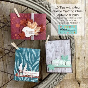 LovenStamps: 10 Tips Online Crafting Class with Meg featuring Come to Gather Holiday Catalog Suite