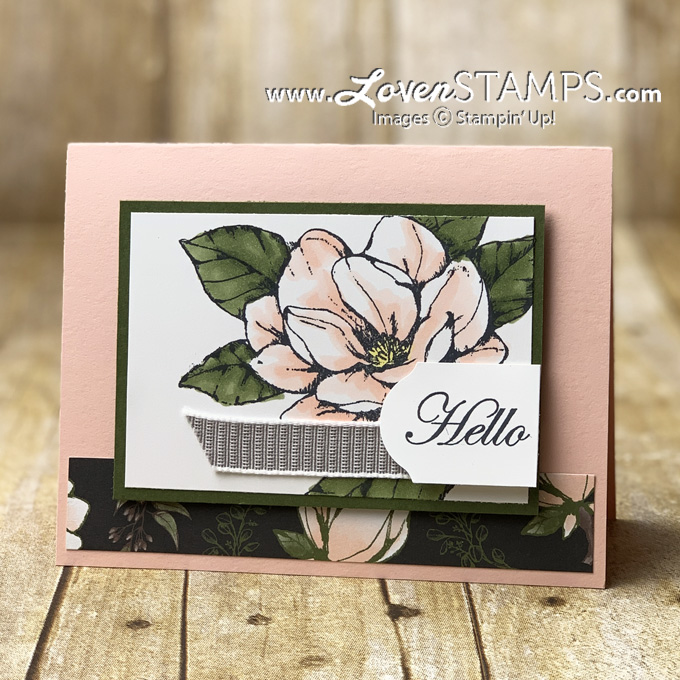 sweet and simple good morning magnolia lane card idea stampin up supplies by lovenstamps