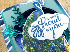noble peacock stampin up card idea