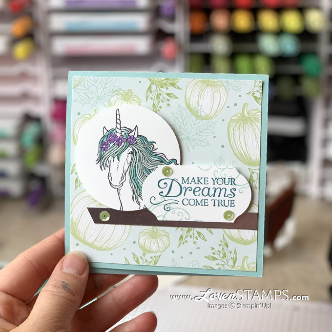 leave a little sparkle stamp set stampin up video tutorial