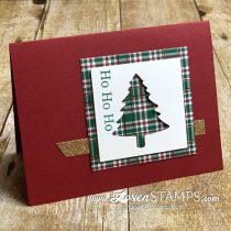 Perfectly Plaid Simple Stamping Christmas Card Ideas for Busy Stampers