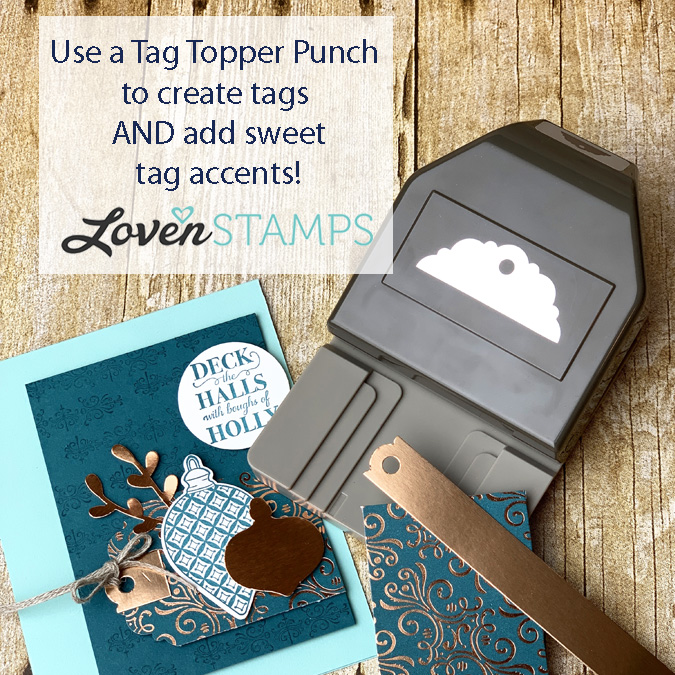 decorative tag topper punch christmas card video tutorial