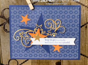 stitched stars dies birthday card idea