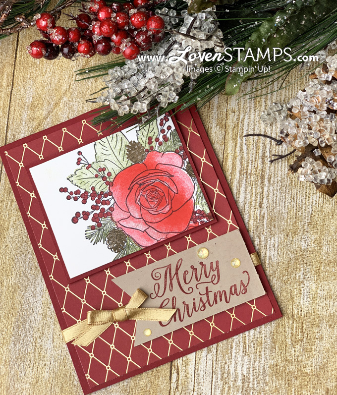 christmastime is here christmas roses stampin up