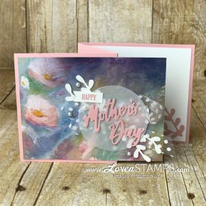 LovenStamps: Perennial Essence Zig Zag Fun Fold Card for Mother's Day with Word Wishes Dies from Stampin Up