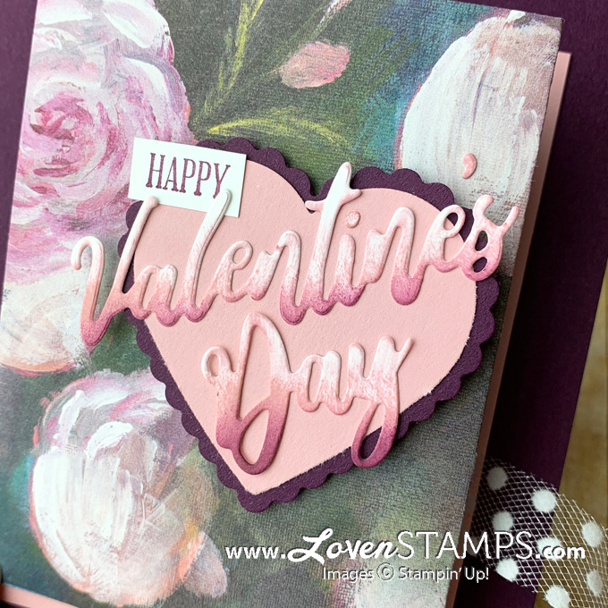 LovenStamps: Ombre Die Cut Technique for Valentine's Day with Perennial Essence Paper from Stampin Up for LovenStamps Card Kits To Go