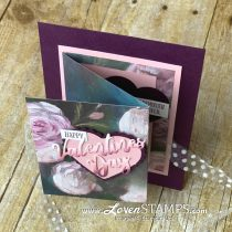 Ombre Die Cut Valentine (with Fun Fold DSP Layer)