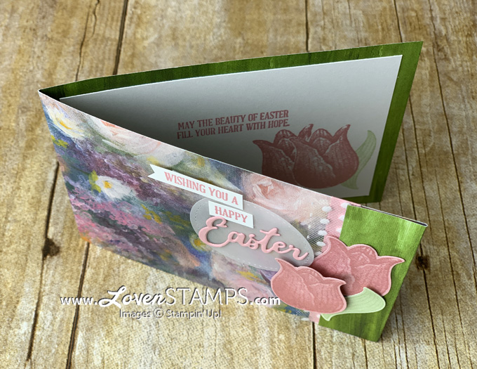 DSPcardbase timeless tulip sneak peek tulip builder punch stampin up perennial essence word wishes dies