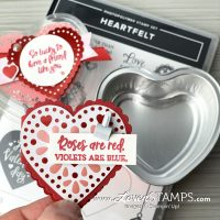 Lovenstamps stampin up foil heart tin baking treat valentine card idea heartfelt stamp set