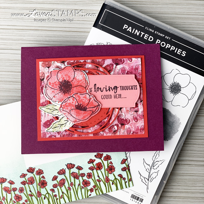 painted poppies suite stampin up mini catalog 2020 envelope art card idea from lovenstamps sab sending you thoughts