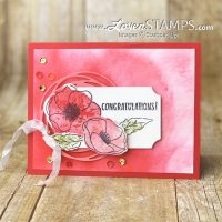 painted poppies stamp set stampin up mini catalog 2020 card idea